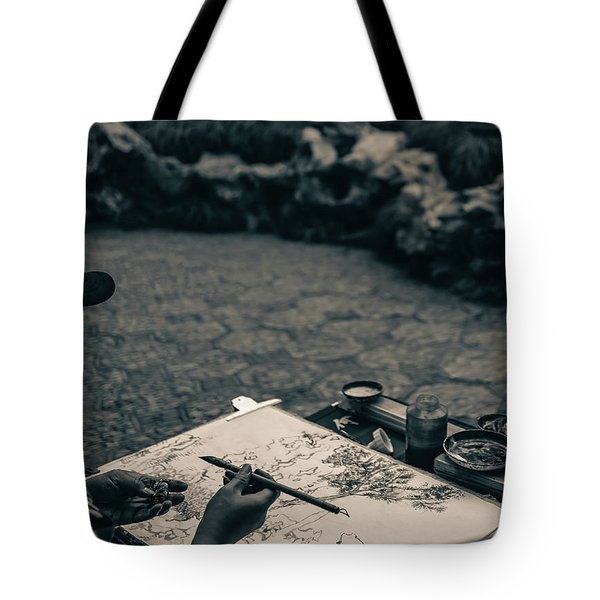Lion Forest Garden Artist Tote Bag
