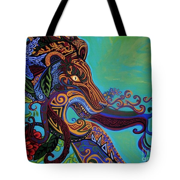 Lion Gargoyle Tote Bag by Genevieve Esson