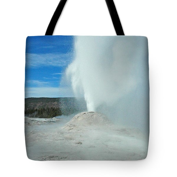 Lion Geyser Yellowstone Tote Bag