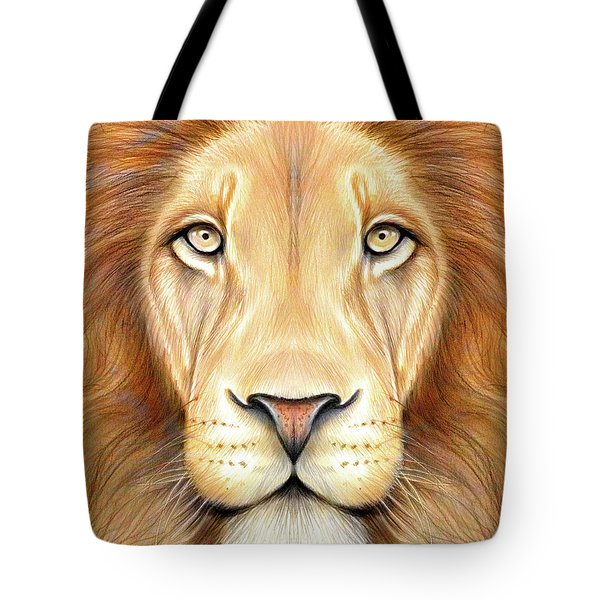 Lion Head In Color Tote Bag