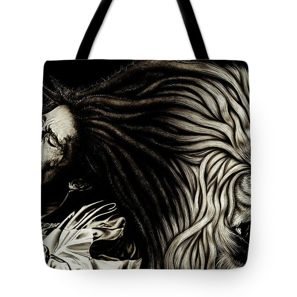 Lion Heart -bob Marley Tote Bag