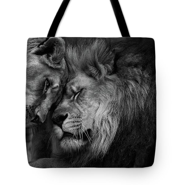 Lion In Love 2 Tote Bag
