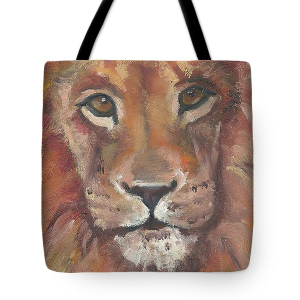 Lion Tote Bag by Jessmyne Stephenson