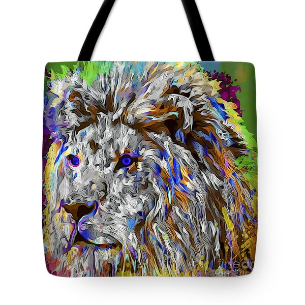 Tote Bag featuring the digital art Lion King by Eleni Mac Synodinos