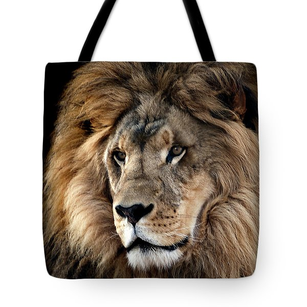 Tote Bag featuring the photograph Lion King Of The Jungle 2 by James Sage