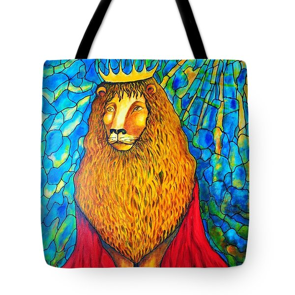 Lion-king Tote Bag by Rae Chichilnitsky