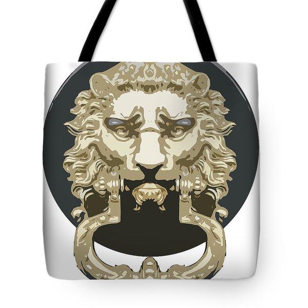 Lion Knocker Tote Bag