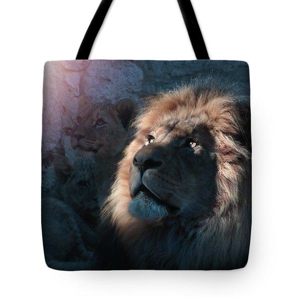 Lion Light Tote Bag