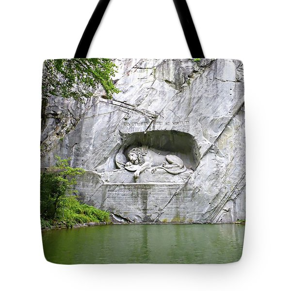 Lion Of Lucerne Tote Bag