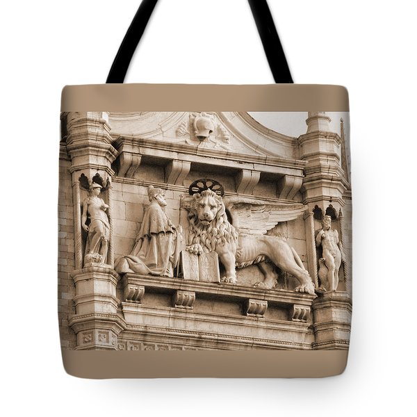 Lion Of Venice With The Doge Tote Bag