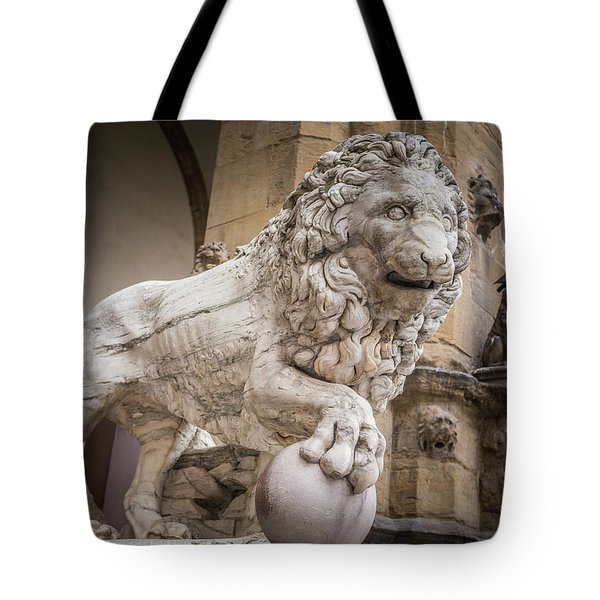 Lion On The Porch Tote Bag