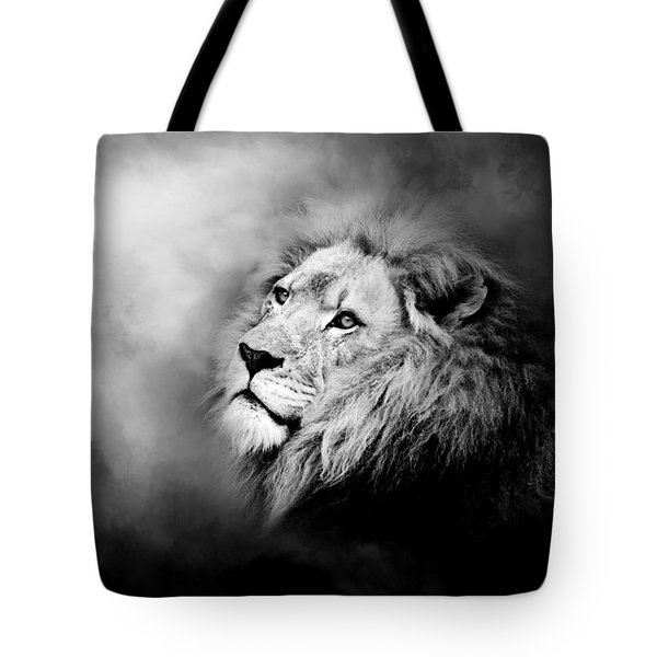 Lion - Pride Of Africa II - Tribute To Cecil In Black And White Tote Bag