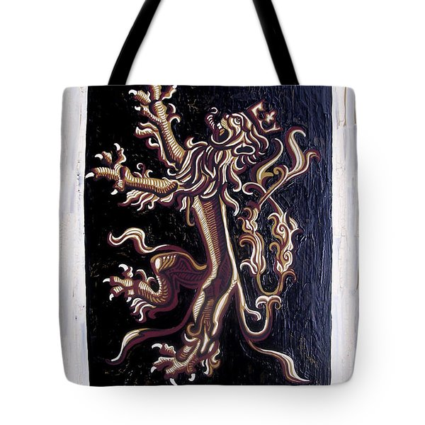 Lion Rampant Tote Bag by Genevieve Esson