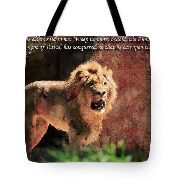 Lion Revelation 5 Tote Bag
