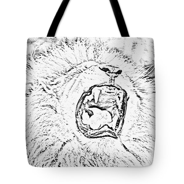 Lion Roar Drawing Tote Bag