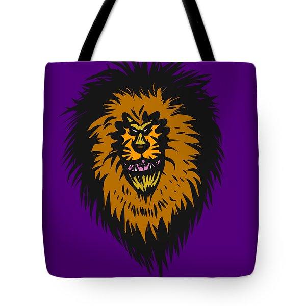 Lion Roar Purple Tote Bag