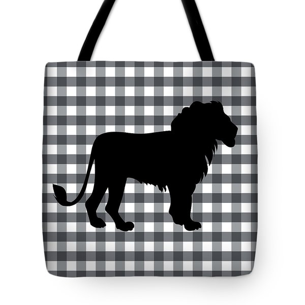 Lion Silhouette Tote Bag