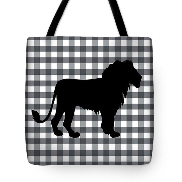 Lion Silhouette Tote Bag