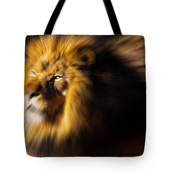 Lion The King Is Comming Tote Bag