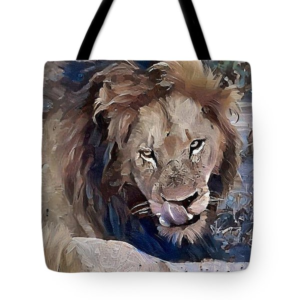 Lion With Tongue Tote Bag