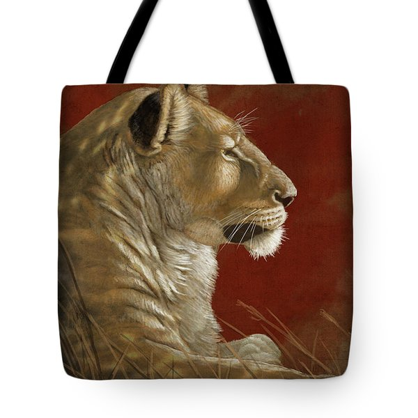 Lioness In The Shade Tote Bag