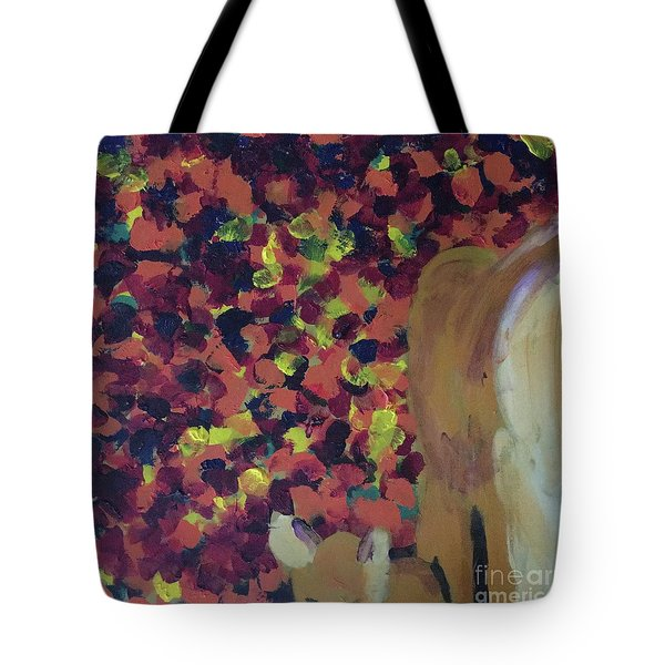 Tote Bag featuring the painting Lioness' Pride 2 Of 6 by Donald J Ryker III
