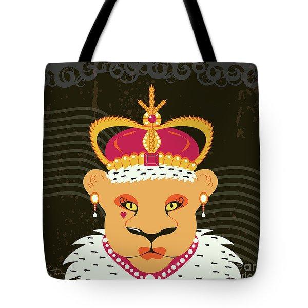 Lioness Queen Tote Bag