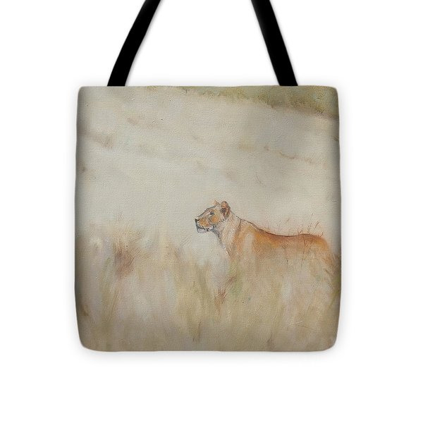 Lioness - Scent Ahead Tote Bag by Ron Wilson