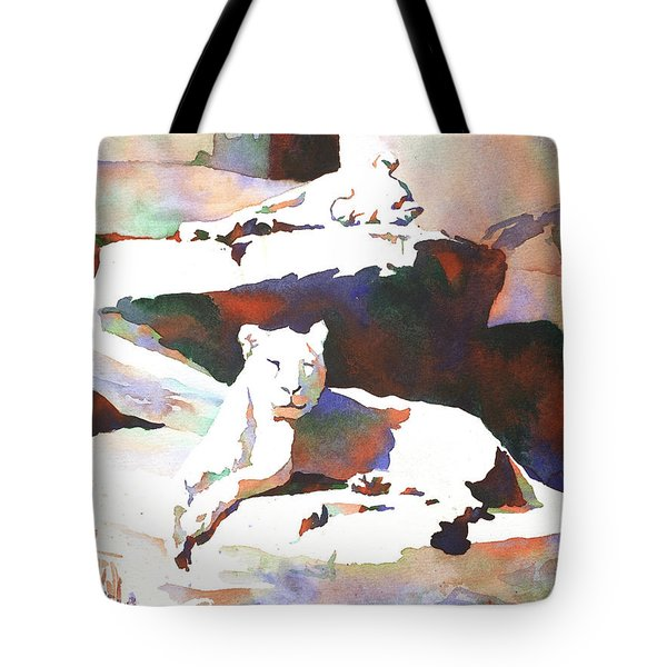 Lionesses At Zoo Tote Bag