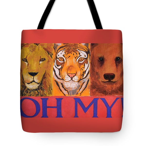 Lions And Tigers And Bears Tote Bag by Mary McInnis