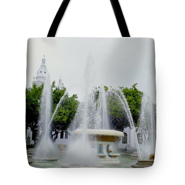 Lions Fountain, Ponce, Puerto Rico Tote Bag