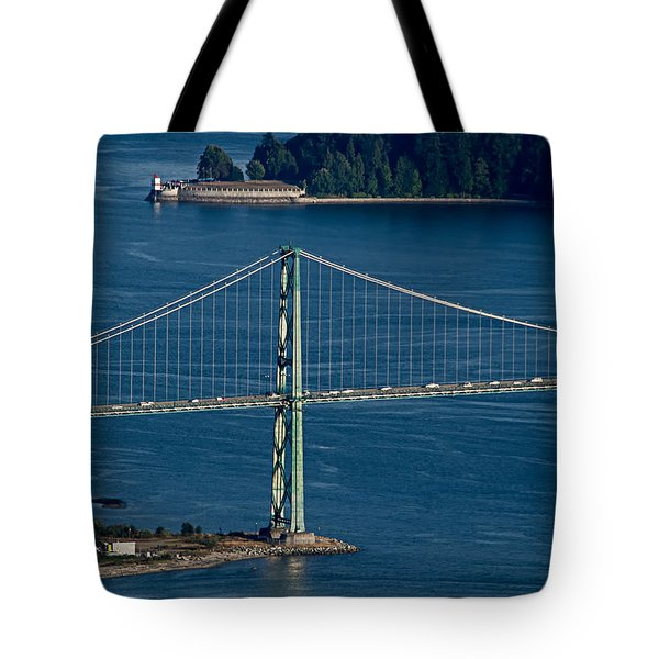 Lions Gate Bridge And Brockton Point Tote Bag