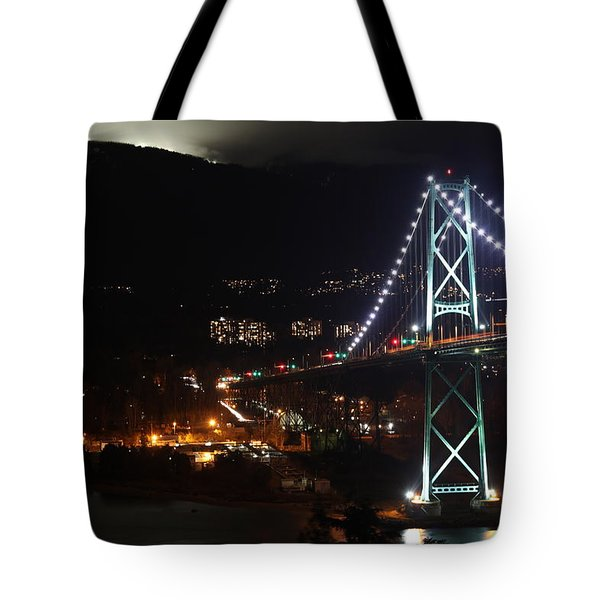 Lions Gate Bridge And Grouse Mountain Tote Bag