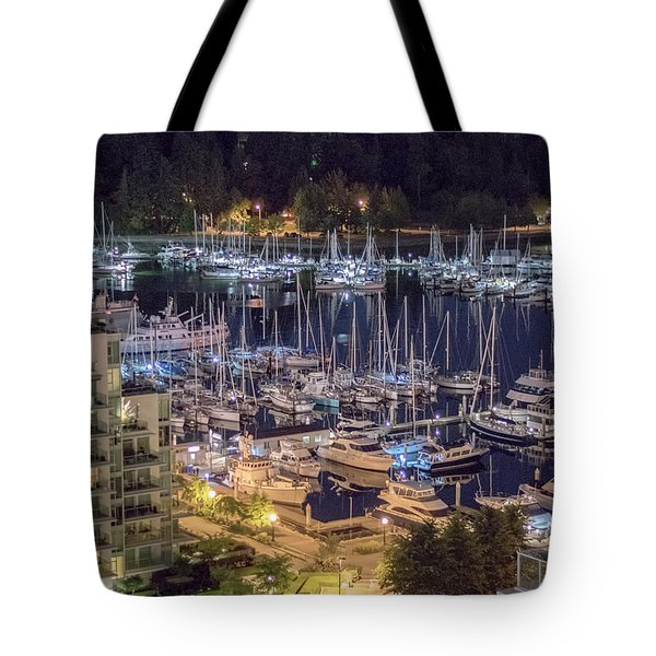 Lions Gate Bridge And Stanley Park Tote Bag by Ross G Strachan