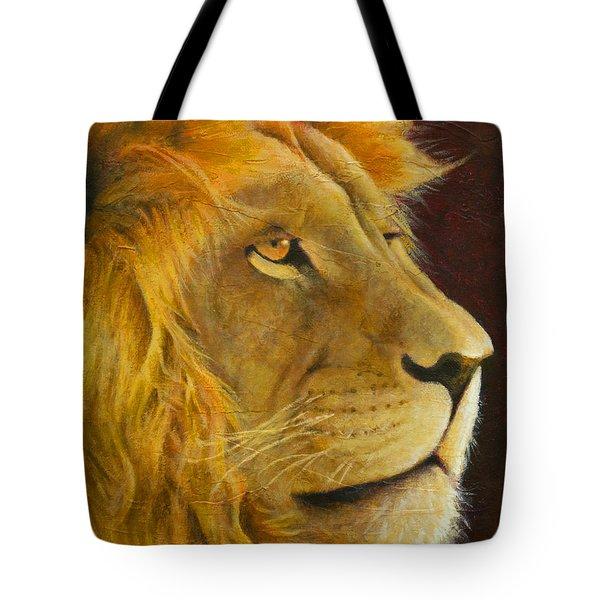 Lion's Gaze Tote Bag