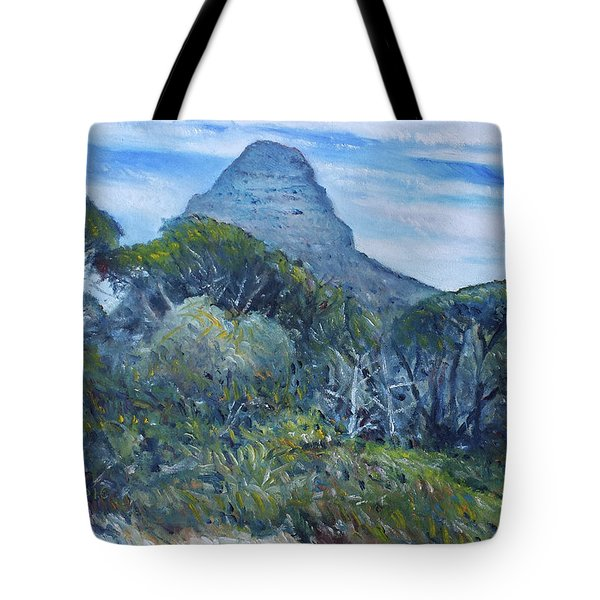 Lions Head Cape Town South Africa 2016 Tote Bag by Enver Larney