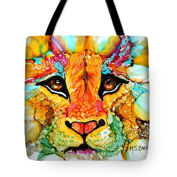 Lion's Head Gold Tote Bag
