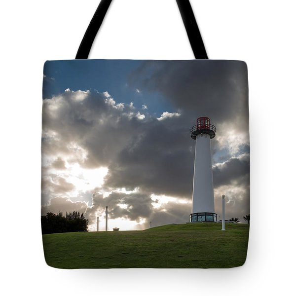 Lion's Lighthouse For Sight - 2 Tote Bag by Ed Clark