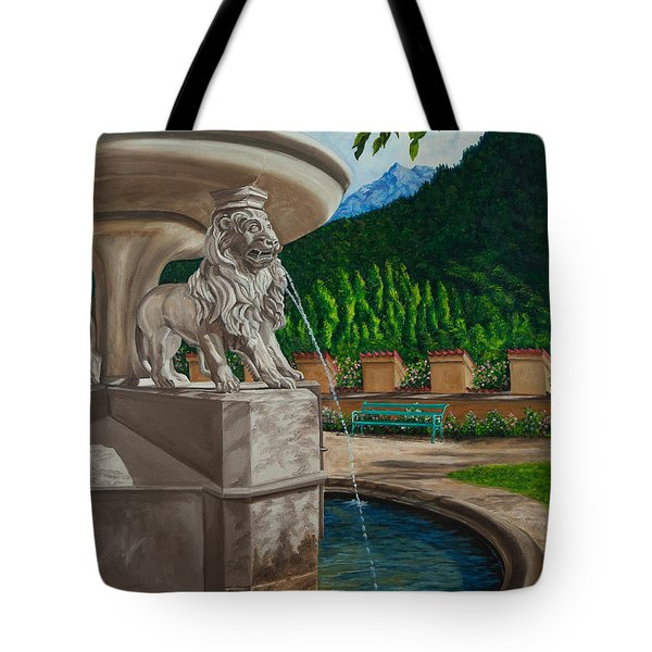 Lions Of Bavaria Tote Bag by Charlotte Blanchard