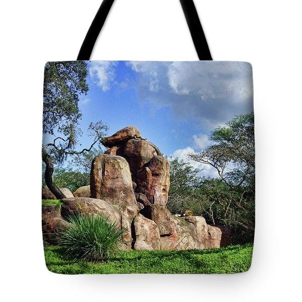 Lions On The Rock Tote Bag