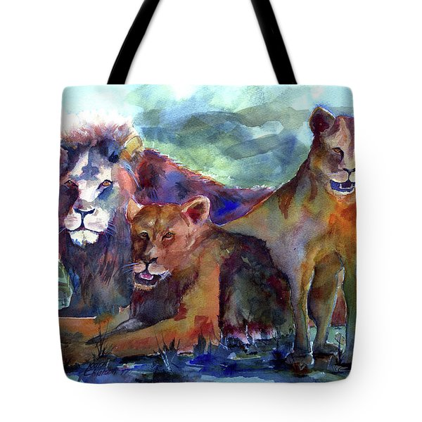 Lion's Play Tote Bag