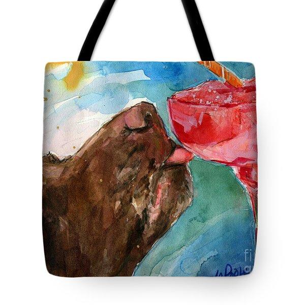 Lip Smack Daq Tote Bag by Molly Poole