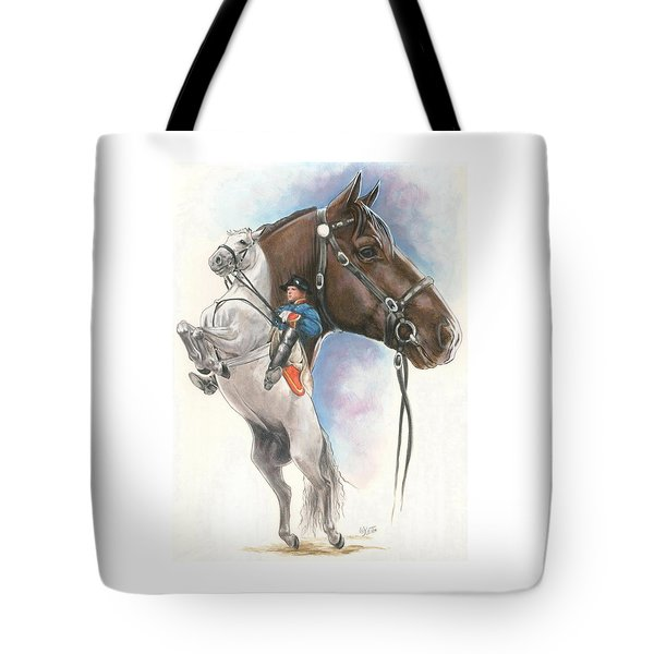 Tote Bag featuring the mixed media Lippizaner by Barbara Keith