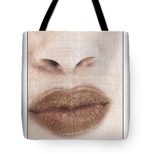 Lips And Nose. Female Tote Bag