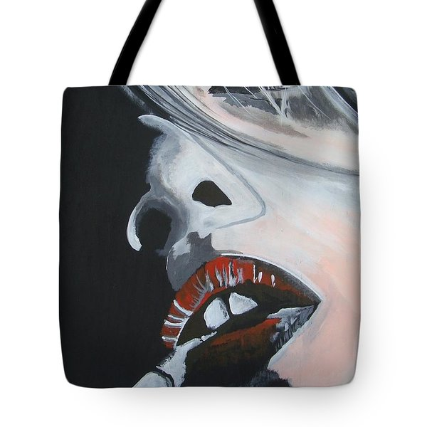 Lips Like Cherries Tote Bag
