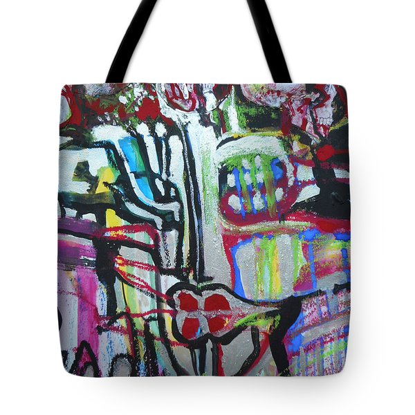Lips Made Of Steel Tote Bag