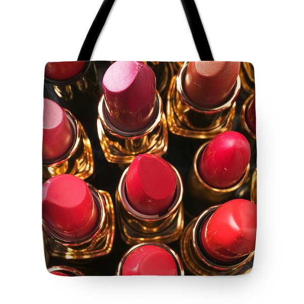 Lipstick Rows Tote Bag by Garry Gay