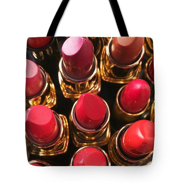 Lipstick Rows Tote Bag