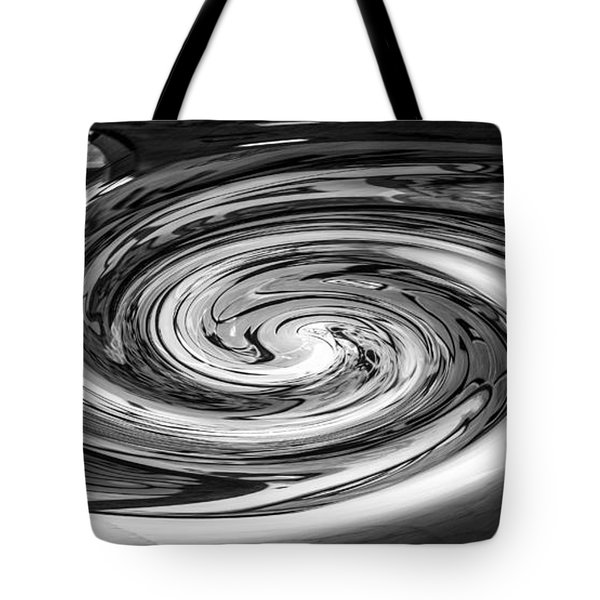 Liquefied Graffiti In Black And White Tote Bag