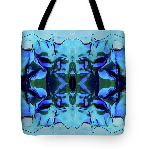 Tote Bag featuring the digital art Liquid Abstract #0059-1 by Barbara Tristan